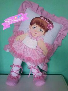 Resultado de imagen para almofadas de bonecas pintadas