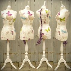 Pretty Flutterby Butterfly Corset laced Mannequin Dressform Display - Butterfly