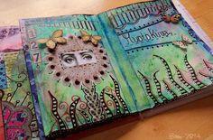 "Art Journal by *Silkku* ""Portrait"" silkkus.blogspot.fi"