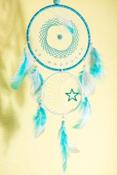 Attrape Rêve Dreamcatcher Fait Main Personnalisable **RESERVE** 2 cercles 15+10 cm : Décoration pour enfants par odydonc