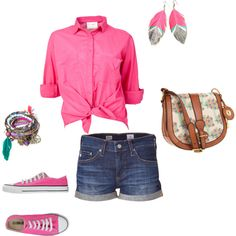 PInk, created by mrsfisher247 on Polyvore I'd like another color scheme besides this. Love the idea of the outfit, though.