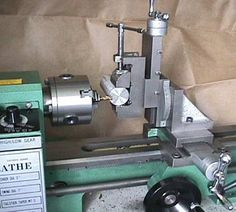 Homemade milling attachment (Varmint Al's Mini Lathe Pages):
