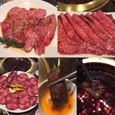 Different cuts of wagyu beef with cucumber dipped in egg yolk [1024x1024] [OC]