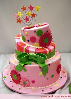 Topsy turvy cake for girl, so cute!