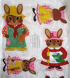 Bunnies doll panel