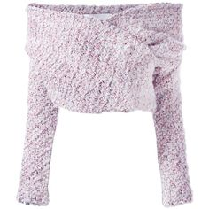Daizy Shely off the shoulder jumper (225.235 HUF) ❤ liked on Polyvore featuring tops, sweaters, crop top, off shoulder crop top, off shoulder sweater, white sweaters and white crop tops