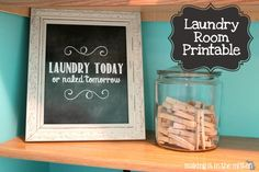 Making It In The Mitten: Laundry Room Chalkboard Printable