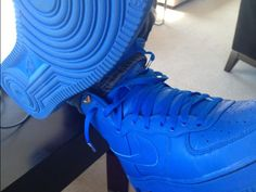 Nike Air Force 1 High Top Blue