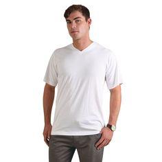 Show details for 170g Combed Cotton V-neck T-shirt