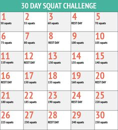 This is a great way to get started on a workout program! You can do squats at home, work, or at the kid's soccer practice!