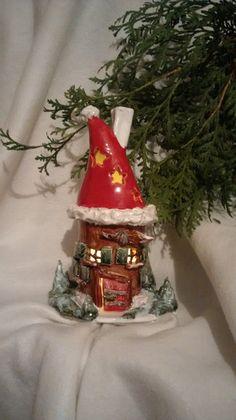 Kerzen & Beleuchtung - Weihnachts- Lichterhäuschen/ Räucherhäuschen - ein Designerstück von Maerchenwelten-aus-Ton bei DaWanda