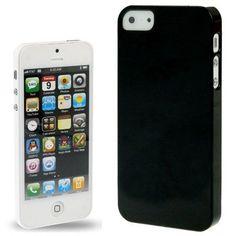 Iphone 5 Cover Schwarz glänzend (harte Rückseite) von CNP