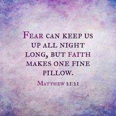 Faith for when sleepless thoughts greet me at 3 am.