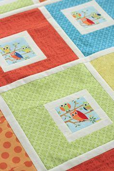 Little Owls baby quilt pattern / tutorial