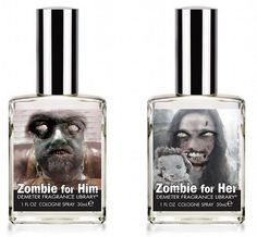 Demeter is selling Zombie-Scented Cologne and Perfume. Because what could be more attractive than the stench of rotting flesh and stale brain-breath?