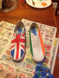 c45e85e58d I made these Union Jack and Irish flag shoes! You can use these for one  direction shoes!