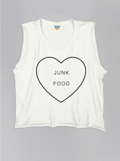 Kids Girls Love Junk Food Tank