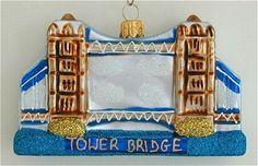 Glass Ornaments, Christmas Ornaments, Deck The Halls, Tower Bridge, Decoration, Holiday Decor, Frame, Trees, Noel