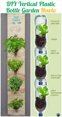 DIY Plastic Bottle Garden Projects & Ideas [Picture Instructions] - Yardsurfer Fence or Wall Garden Ideas DIY Vertival Wall PlasticBottle Garden Instructions – DIY Plastic Bottle Garden Projects & Ideas - Hydroponic Gardening, Hydroponics, Container Gardening, Gardening Tips, Flower Gardening, Organic Gardening, Urban Gardening, Diy Plastic Bottle, Plastic Bottle Greenhouse