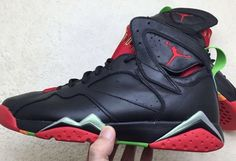"""AIR JORDAN 7 """"MARVIN THE MARTIAN"""" COLOR: BLACK/UNIVERSITY RED-POISON GREEN  RELEASE DATE: 08/15/15 PRICE: $190 @LaceMeUpNews"""