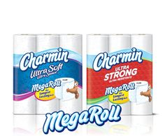 Charmin Ultra Strong Mega Rolls - These are thick and strong, while still maintaining softness. I like the mega rolls because they take up less space in the cupboard, which means I can store more and save money in the process by buying in bulk.
