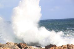 Splashiness at the Point - Pringle Bay - South Africa Niagara Falls, South Africa, Beach, Nature, Travel, Life, Viajes, The Beach, Seaside