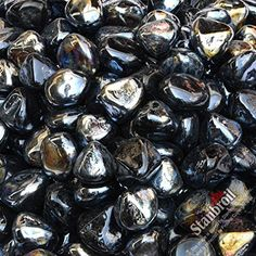 Stanbroil 10-Pound 1/2 Inch Fire Glass Diamonds for Fireplace Fire Pit Onyx Black Luster