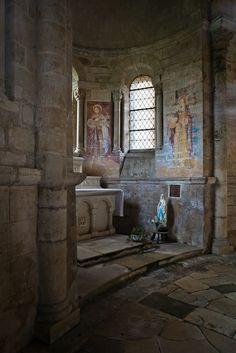 The Church of Saint-Révérien (Dennis Aubrey) Medieval, Christian Religions, Romanesque, Fantasy Landscape, France, Fantasy World, Old World, Cathedrals, Mosques