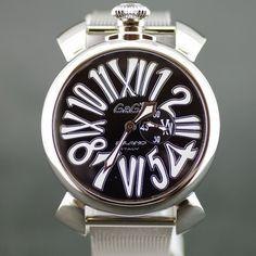 【買取】GaGa MILANO(ガガミラノ) 5080 4 マヌアーレ クオーツ SS メンズ ブラック文字盤時計/イナミックで動きのあるアラビア文字はインパクトがあり、イタリア人ならではの個性を感じます。/専門鑑定士があなたの商品を高額査定!全国どこでも自宅にいながら申込から買取まで完了します♪