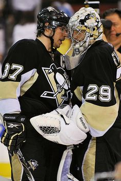 Sidney Crosby & Marc-Andre Fleury.