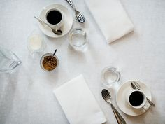 Helminauhat table cloth. Helminauhat-pöytäliina. Designer Johanna Aalto. Table Settings, Tableware, Kitchen, Design, Dinnerware, Cooking, Tablewares, Kitchens, Cucina