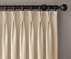 Restoration Hardware Thai Silk Solid French Pleat Drapes x - 2 panels Pleated Curtains, Curtains With Blinds, Silk Drapes, Curtain Patterns, Curtain Designs, Rideaux Design, French Pleat, Living Room Decor Curtains, Curtain Styles