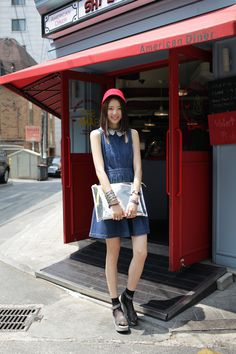 Street Style: Irene Kim in Steve J and Yoni P, photographed by Kim Jin Yong.