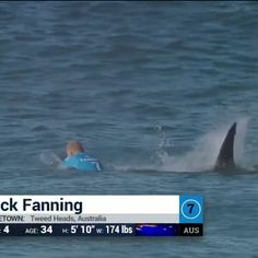 "Shark attack at #JBayOpen. Thankfully, @mfanno is unharmed. ""We are incredibly grateful that no one was seriously injured today. Mick's composure and quick acting in the face of a terrifying situation was nothing short of heroic and the rapid response of our Water Safety personnel was commendable - they are truly world class at what they do. The safety of our athletes is a priority for the WSL"