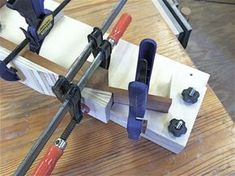 Using the neck assembly jig, you can cut guitar neck glue-up time to a minimum and increase the production of building guitar necks. Instruments, Guitar Neck, Guitar Shop, Guitar Building, Wood Steel, Woodworking, Acoustic Guitars, Diy, Neck Design