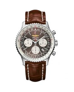 Breitling Navitimer 01 Brown Leather Strap Bronze Mens Watch AB0121C4-Q605-739P