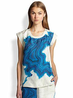 3.1 Phillip Lim Silk Geode-Print Top