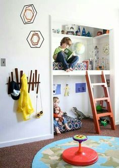 Turn kids closet into play nook!
