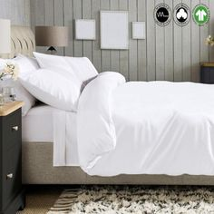 A1 Home Collections Organic Cotton Solid White Wrinkle Resistant Queen Duvet Cover Set A1HCDS02-WHITE - The Home Depot King Duvet Set, King Duvet Cover Sets, Queen Duvet, Duvet Sets, Duvet Covers, Organic Cotton Sheets, Brown Decor, Cotton Bedding, Home Collections