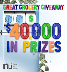 Play for your chance to win Instant Prizes and gain a chance to win a $15,000 grocery gift card at the NJ.com Great Grocery Giveaway!