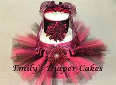 Diaper Cakes By Emily Hot Pink Zebra Cake