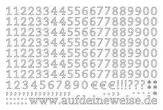 """Alphabet Sticker """"Eva"""" – weiß; Bogen 3 (1-0)"""