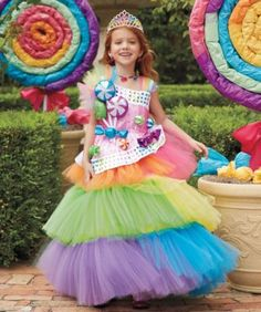 Kids Costumes for Halloween & Dress-up Candy Land Costumes, Cute Costumes, Halloween Costumes For Girls, Halloween Dress, Girl Costumes, Halloween Kids, Holidays Halloween, Costume Bonbon, Costume Carnaval