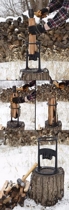 Kindling Cracker Firewood Kindling Splitter #firewood @thistookmymoney Camping Tools, Camping Equipment, Camping Survival, Firewood Rack, Firewood Storage, Camp Axe, Kindling Splitter, Log Splitter, Metal Projects