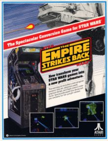 Star Wars: The Empire Strikes Back is the sequel to the vector graphics Star Wars arcade game. It was released by Atari Games in 1985 as a conversion kit for the original game. As in Star Wars, the player takes the role of Luke Skywalker in a set of familiar battle sequences in a first-person perspective. #GameAssault @GameAssault1000 http://www.gameassault1000.com #gaming #Atari