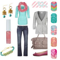Which Jamberry Nail design would you wear with this outfit? Jamberry Nails are t. - - Which Jamberry Nail design would you wear with this outfit? Jamberry Nails are the latest trend in nail art and fashion! Spring Fashion, Winter Fashion, Preppy Girl, New Wardrobe, Wardrobe Ideas, Spring Outfits, Spring Clothes, Fashion Outfits, Womens Fashion