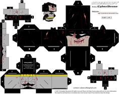 Cubee - Zombie Batman '1of2' by CyberDrone.deviantart.com on @deviantART