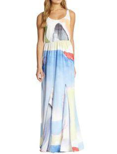 Nina Printed Blossom Tank Dress  - Click to Enlarge
