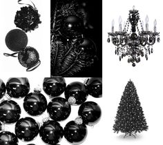 Black Ornaments For A Christmas Tree Decorations Trees