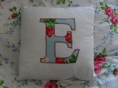 Applique letter cushion